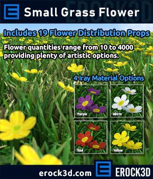 Erock3D - Small Grass Flower