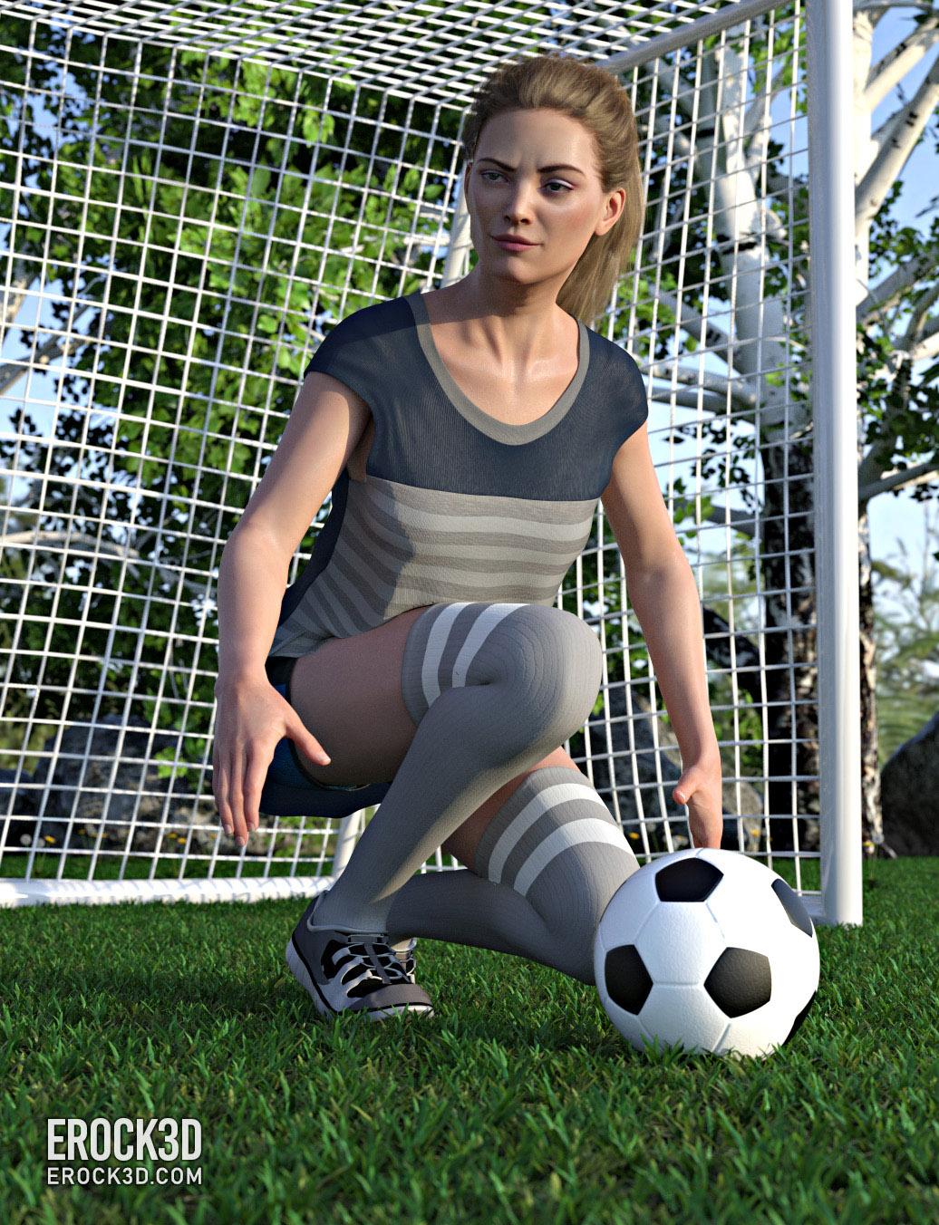 Erock3D Free Grass System Promo - Soccer Girl