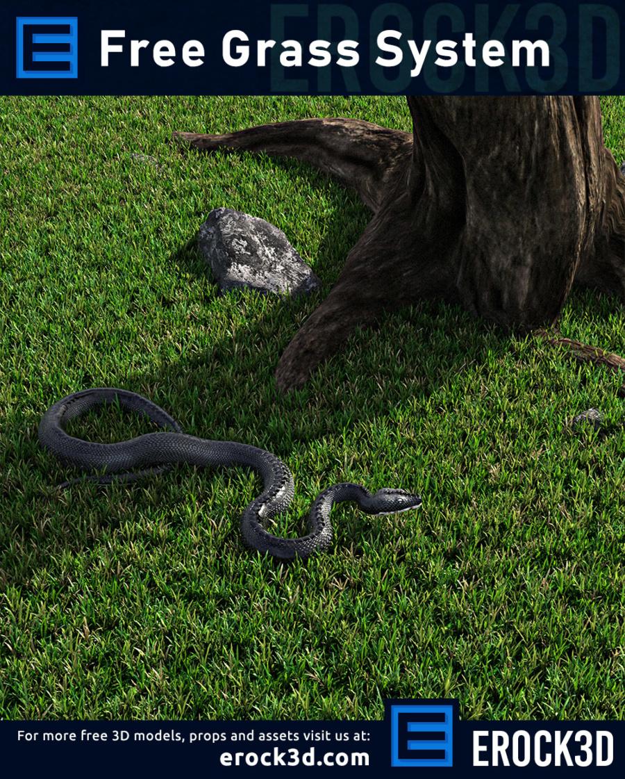 Erock3D Free Grass System